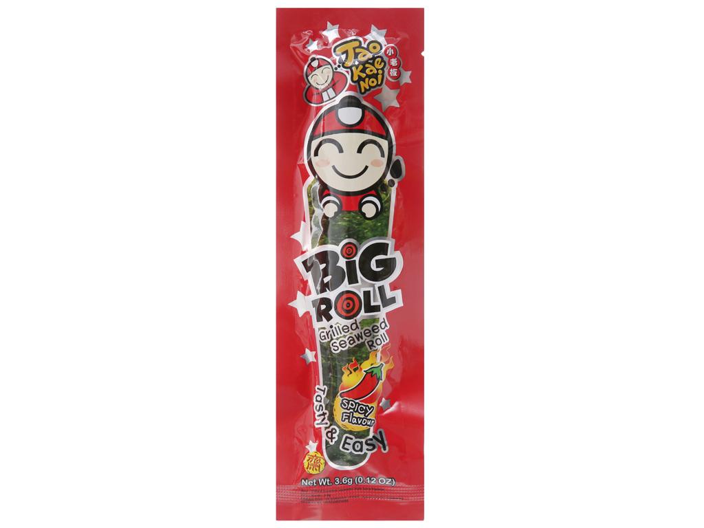 Snack rong biển nướng giòn Tao Kae Noi Big Roll Vị cay 3.6g 1
