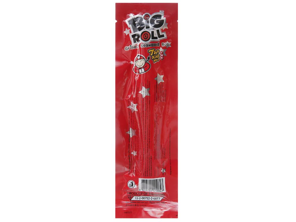 Snack rong biển nướng giòn Tao Kae Noi Big Roll Vị cay 3.6g 2