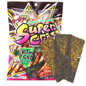 Snack rong biển nướng vị kim chi Tao Kae Noi Super Crisp gói 24g