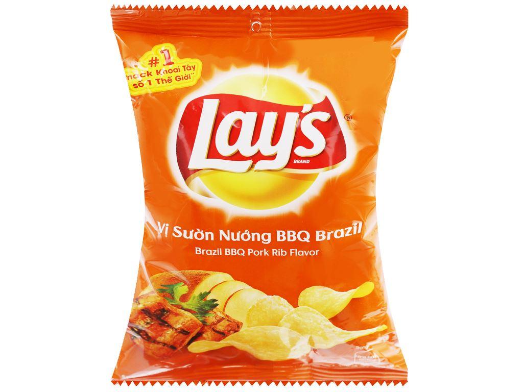 Snack khoai tây vị sườn nướng bbq brazil Lay's gói 29g 1