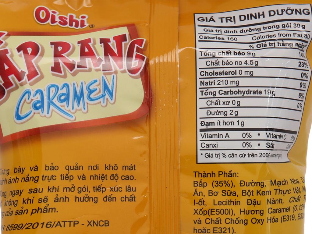 Snack bắp rang caramen Oishi gói 40g 5