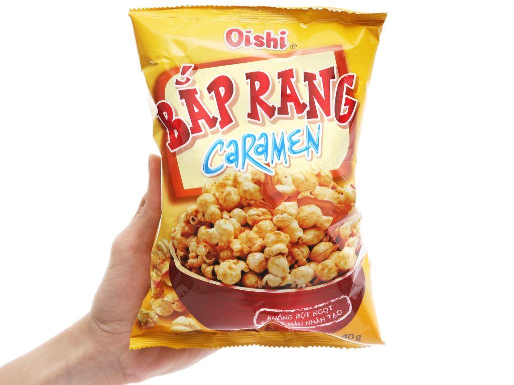 Snack bắp rang caramen Oishi gói 40g 4