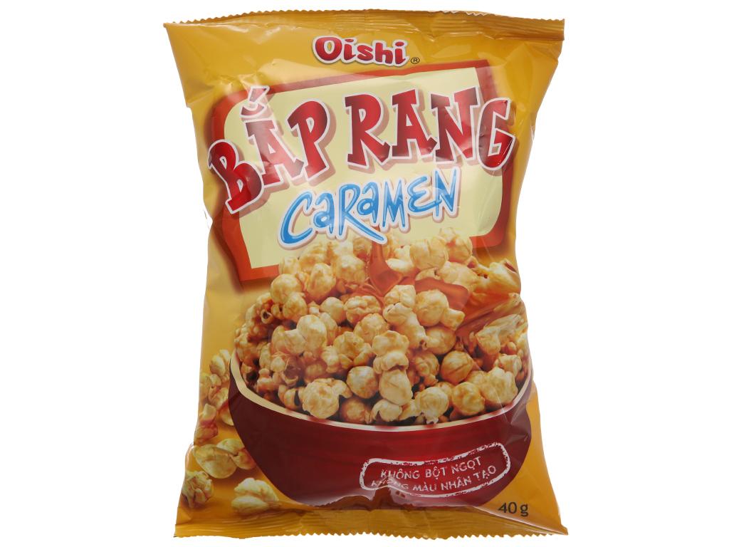 Snack bắp rang caramen Oishi gói 40g 1