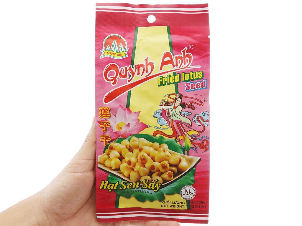 Hạt sen sấy Quỳnh Anh gói 100g 3