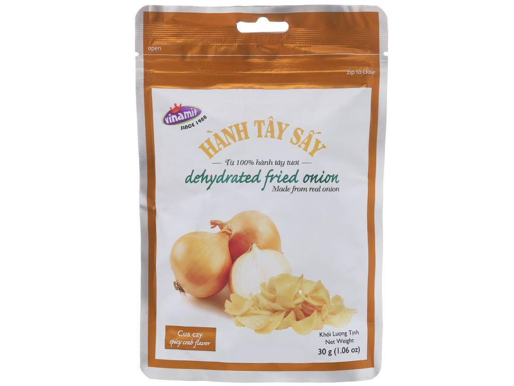 Hành tây sấy vị cua cay Vinamit túi 30g 1