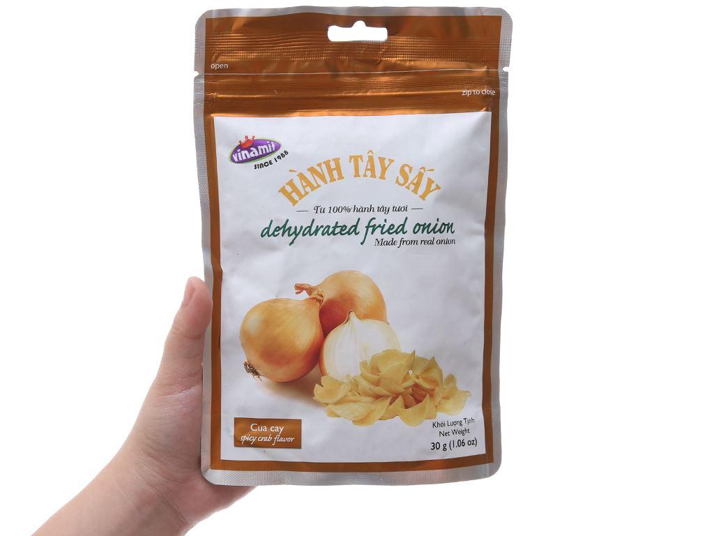 Hành tây sấy vị cua cay Vinamit túi 30g 3