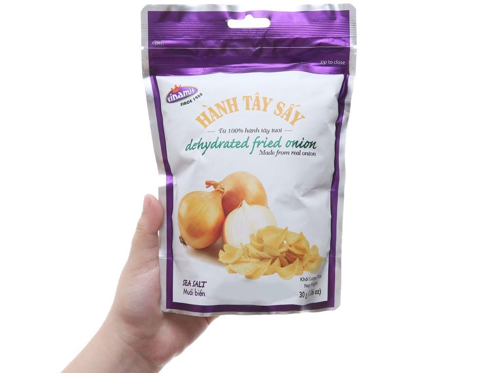 Hành tây sấy vị muối biển Vinamit túi 30g 3