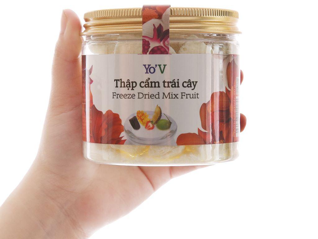 Sữa chua sấy vị trái cây Yo'V hũ 80g 4