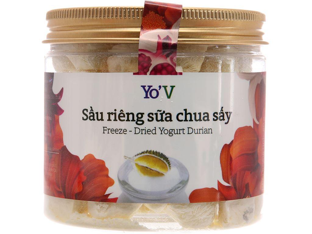 Sữa chua sấy vị sầu riêng Yo'V hũ 80g 1