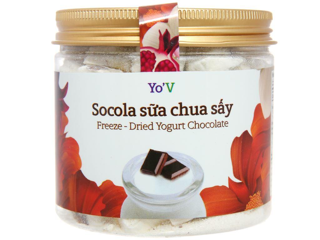 Sữa chua sấy vị socola Yo'V hũ 80g 1