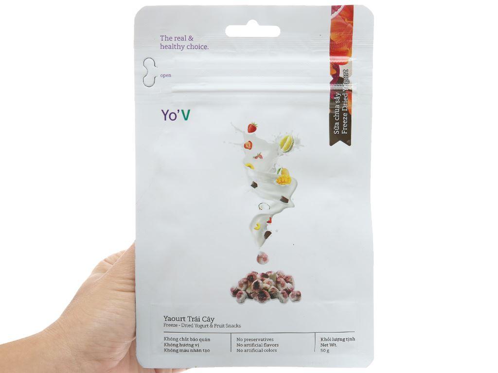 Sữa chua sấy vị trái cây Yo'V túi 50g 3
