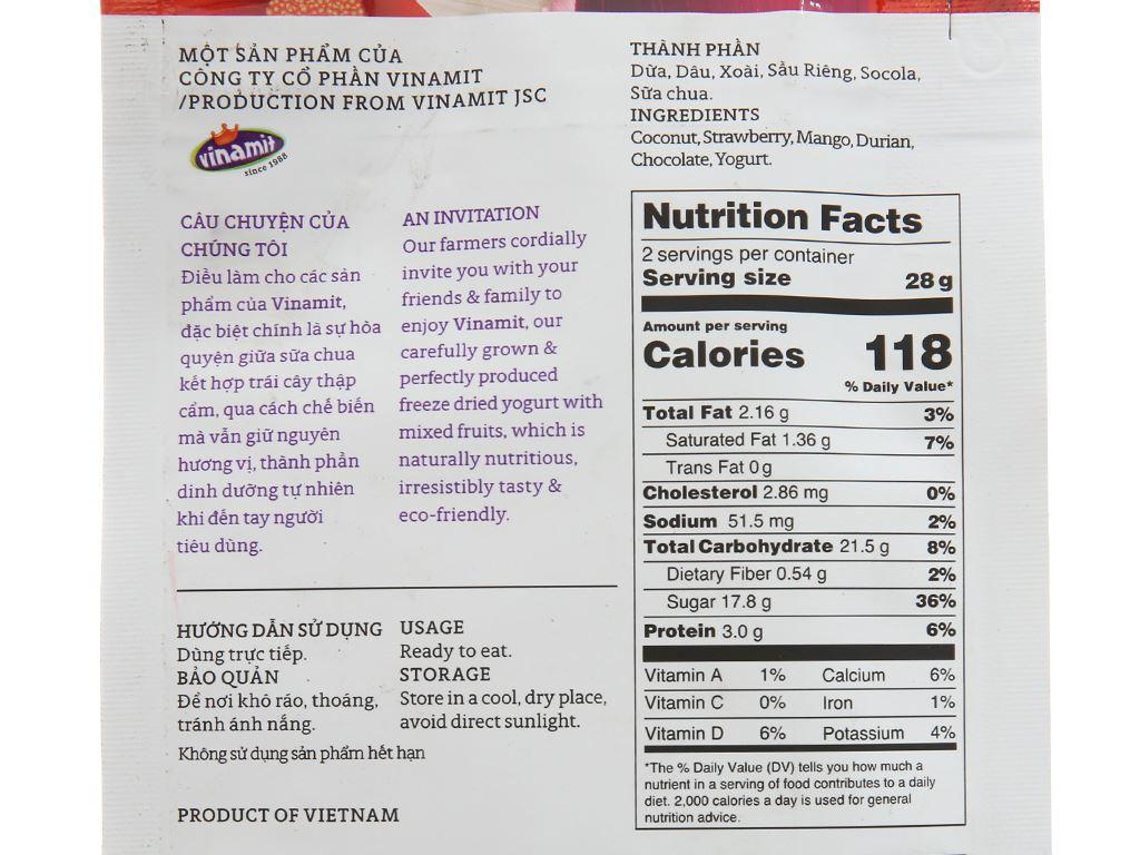 Sữa chua sấy vị trái cây Yo'V túi 50g 2
