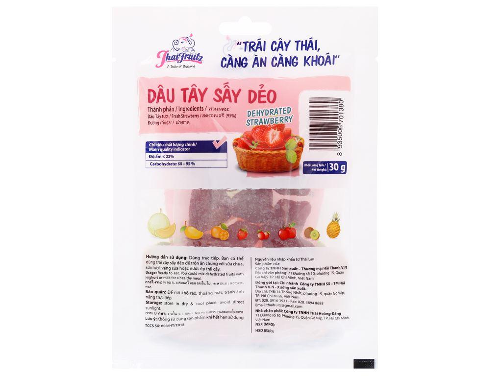 Dâu tây sấy dẻo Thaifruitz gói 30g 2