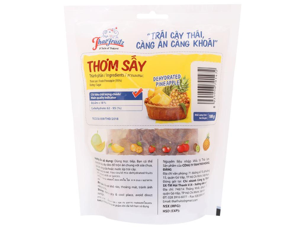 Thơm sấy dẻo Thaifruitz gói 100g 2