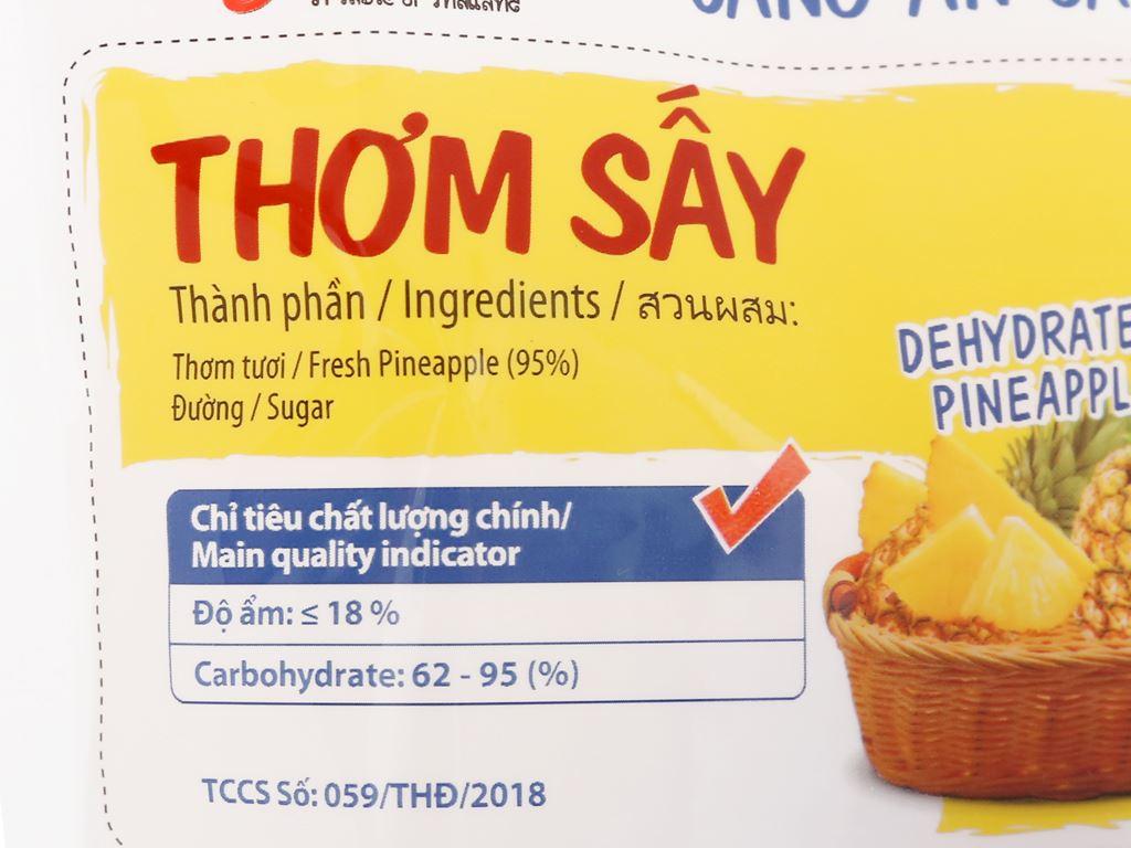 Thơm sấy dẻo Thaifruitz gói 100g 3