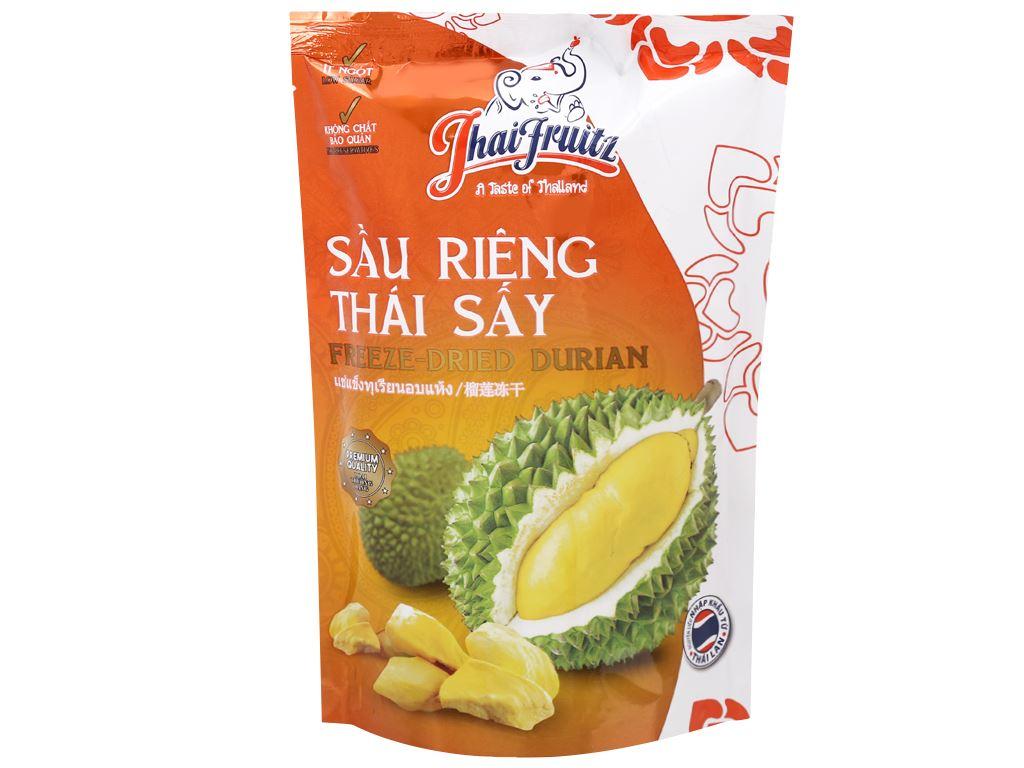 Sầu riêng Thái sấy giòn Thaifruitz gói 80g 1