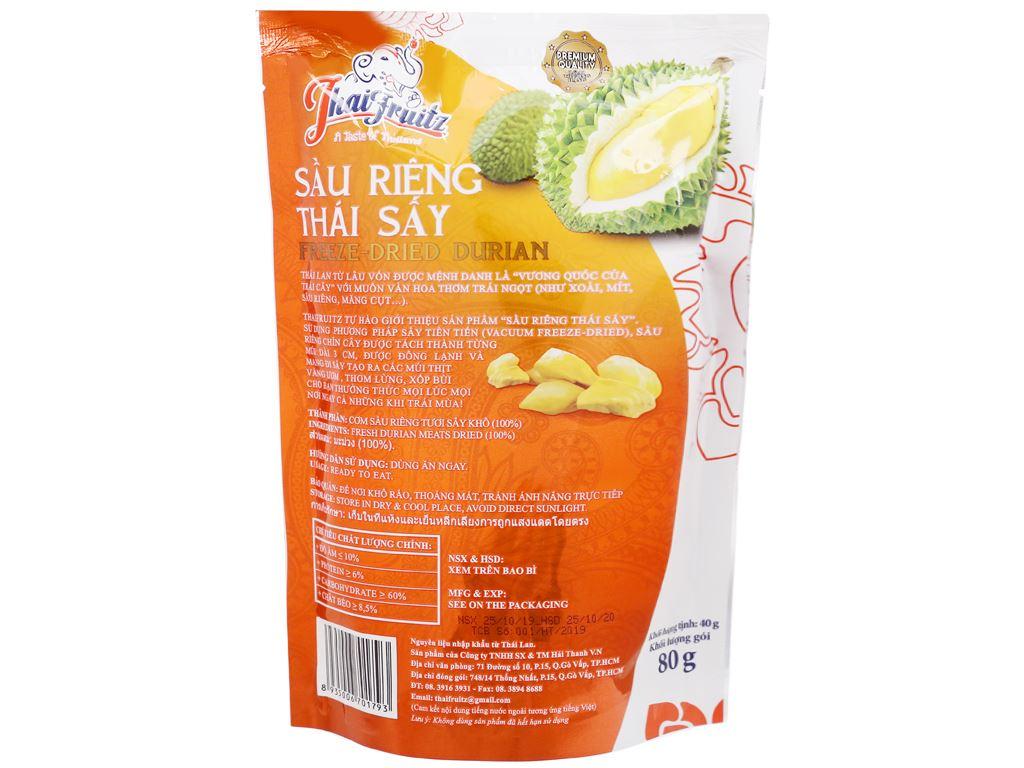 Sầu riêng Thái sấy giòn Thaifruitz gói 80g 2