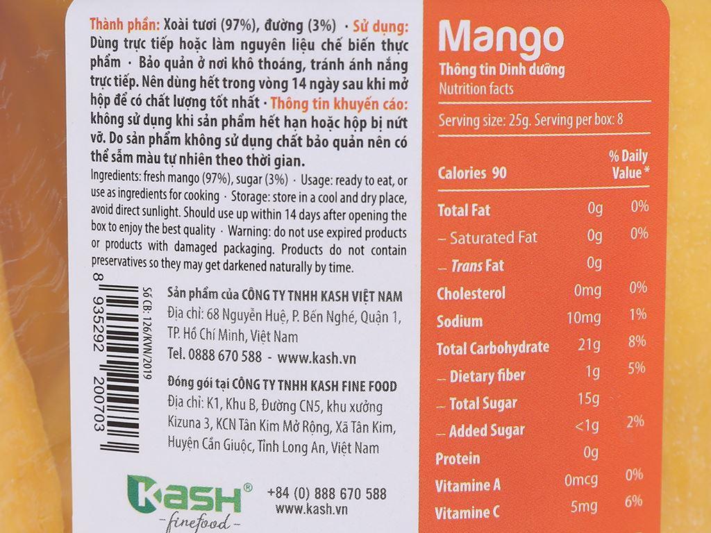 Xoài sấy dẻo Mekong Yummy hộp 200g 3