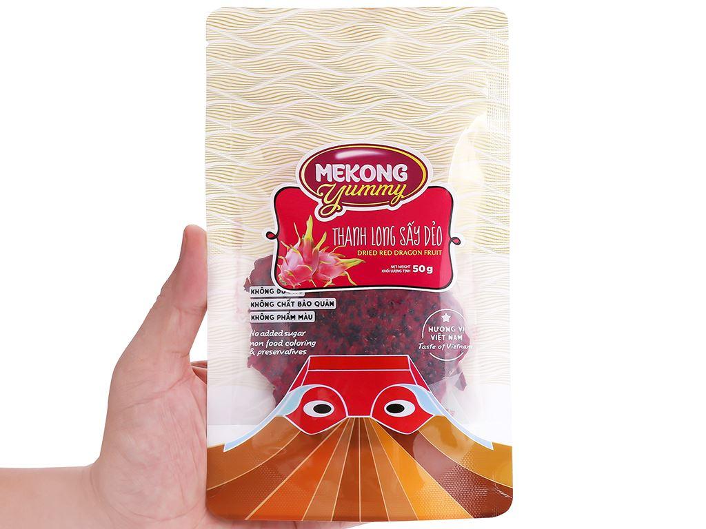 Thanh long sấy dẻo Mekong Yummy gói 50g 5