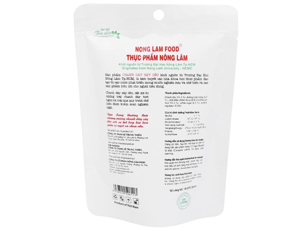 Chanh dây sấy dẻo Nong Lam Food túi 45g 2
