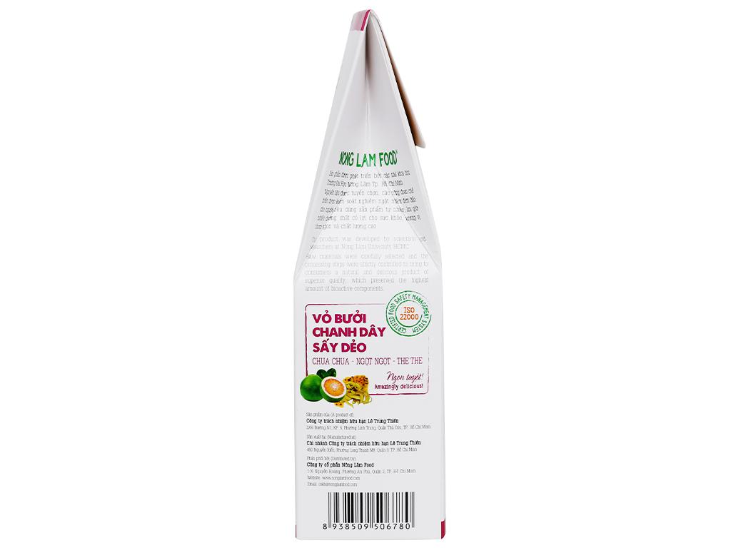 Vỏ bưởi chanh dây sấy dẻo Nong Lam Food hộp 100g 3
