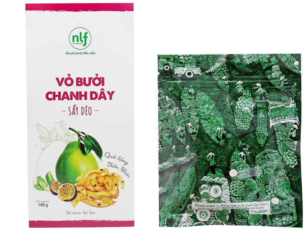 Vỏ bưởi chanh dây sấy dẻo Nong Lam Food hộp 100g 5