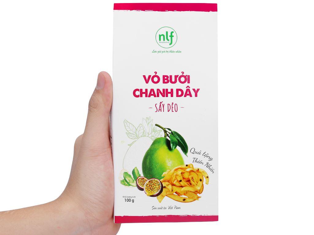 Vỏ bưởi chanh dây sấy dẻo Nong Lam Food hộp 100g 7