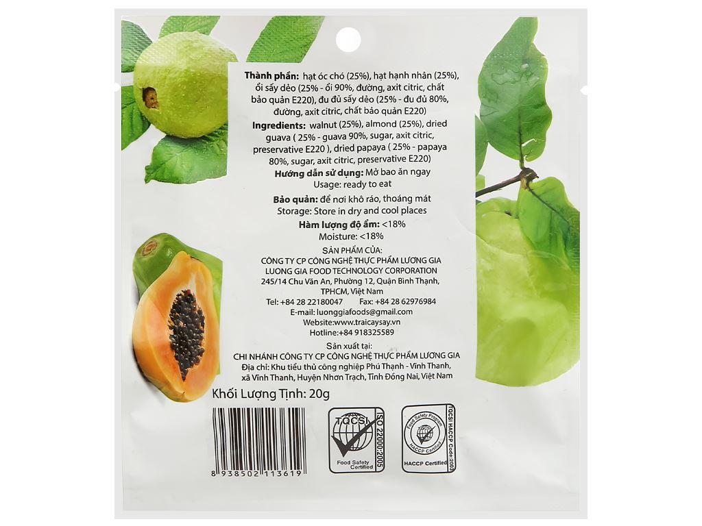 Trái cây sấy và hạt Ohla nhãn đen gói 20g 2