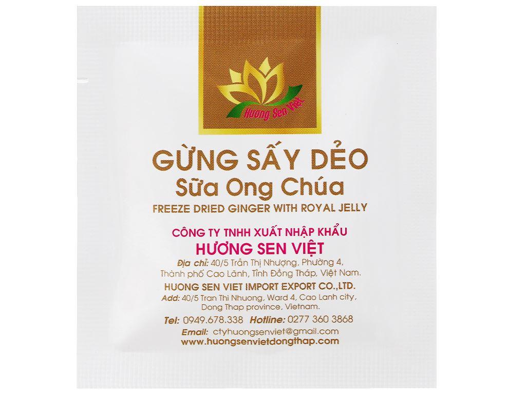 Gừng sấy dẻo sữa ong chúa Hương Sen Việt hộp 90g 5