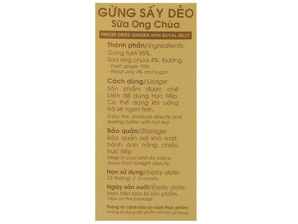 Gừng sấy dẻo sữa ong chúa Hương Sen Việt hộp 90g 6