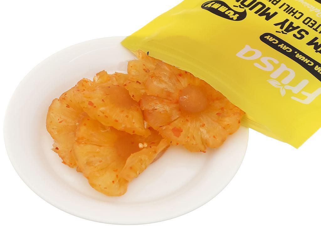 Thơm sấy dẻo muối ớt Frusa gói 100g 5