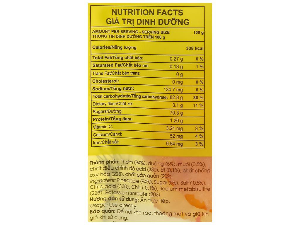 Thơm sấy dẻo muối ớt Frusa gói 35g 3