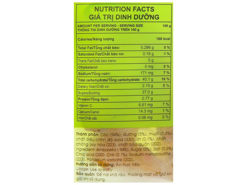 Cóc sấy dẻo muối ớt Frusa gói 35g 3