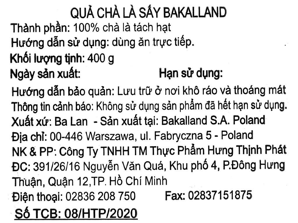 Chà là sấy Bakalland hộp 400g 5