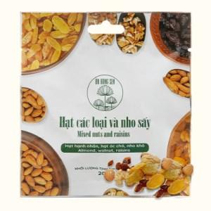 Hạt các loại và nho sấy Ba Bông Sen gói 20g