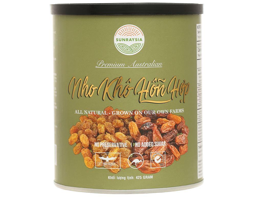 Nho khô Sunraysia Mixed Raisins lon 425g 1