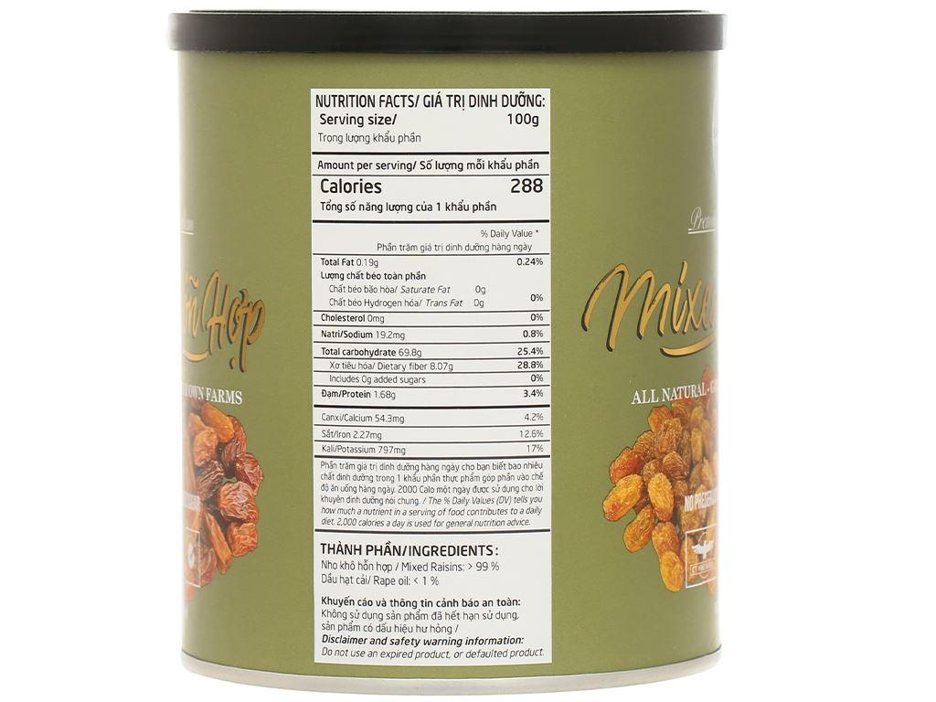 Nho khô Sunraysia Mixed Raisins lon 425g 2