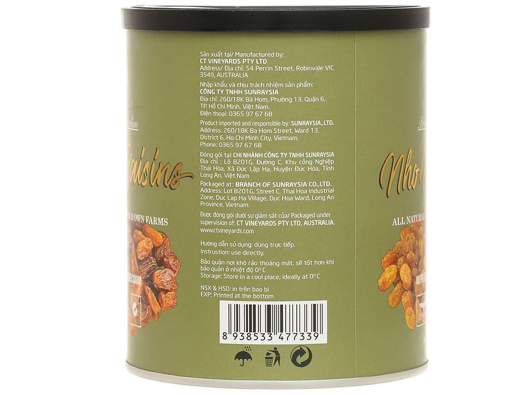 Nho khô Sunraysia Mixed Raisins lon 425g 3