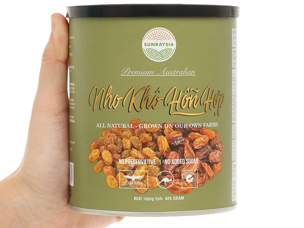 Nho khô Sunraysia Mixed Raisins lon 425g 5