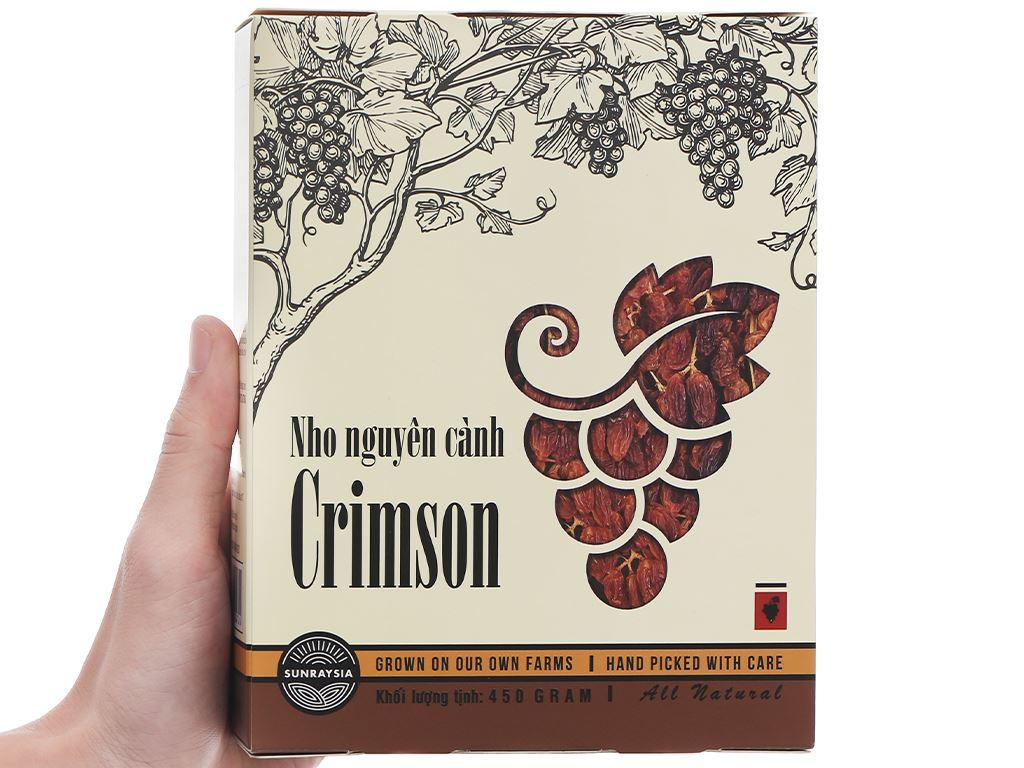 Nho khô nguyên cành Sunraysia Crimson hộp 450g 6