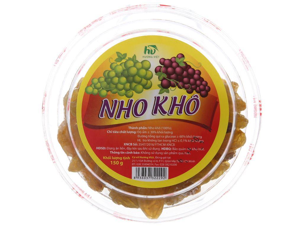 Nho khô Hương Việt hộp 150g 1