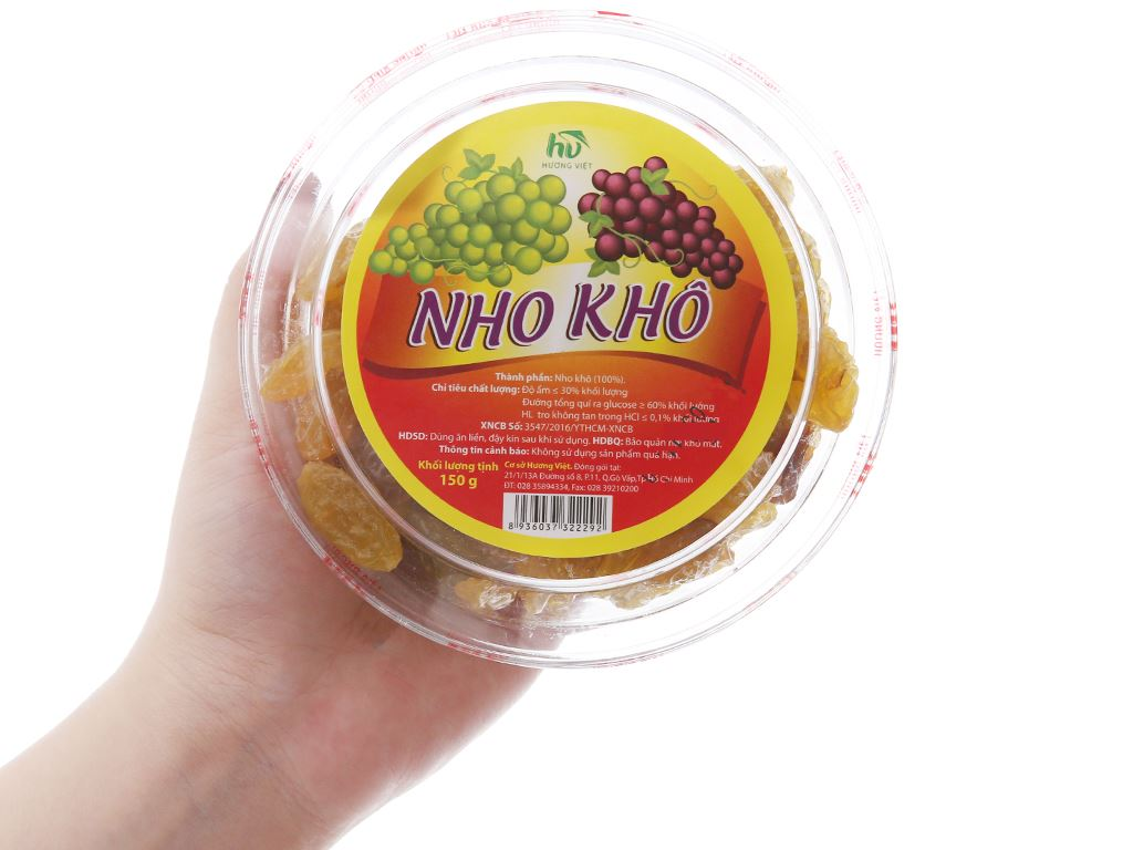 Nho khô Hương Việt hộp 150g 3