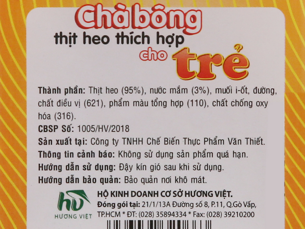 Chà bông heo Hương Việt hũ 60g 4