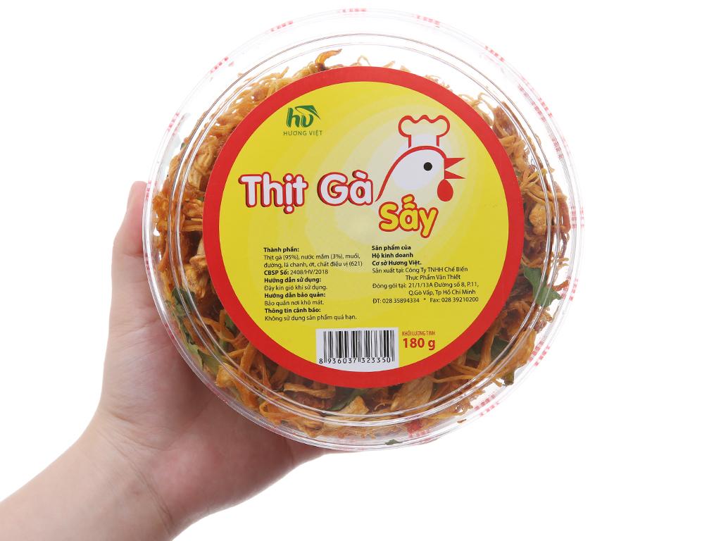 Thịt gà sấy lá chanh Hương Việt hộp 180g 3