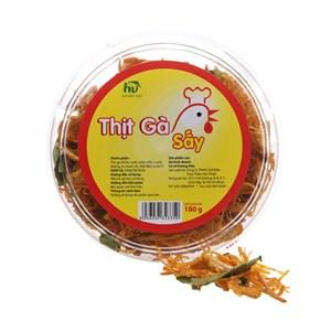Thịt gà sấy lá chanh Hương Việt 180g