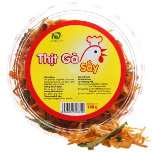 Thịt gà sấy lá chanh Hương Việt hộp 180g