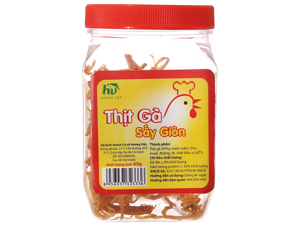 Thịt gà sấy giòn Hương Việt hộp 65g 1