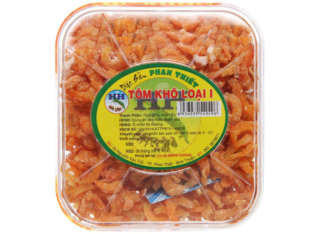 Tôm khô loại 1 Hồng Hương hộp 200g 1