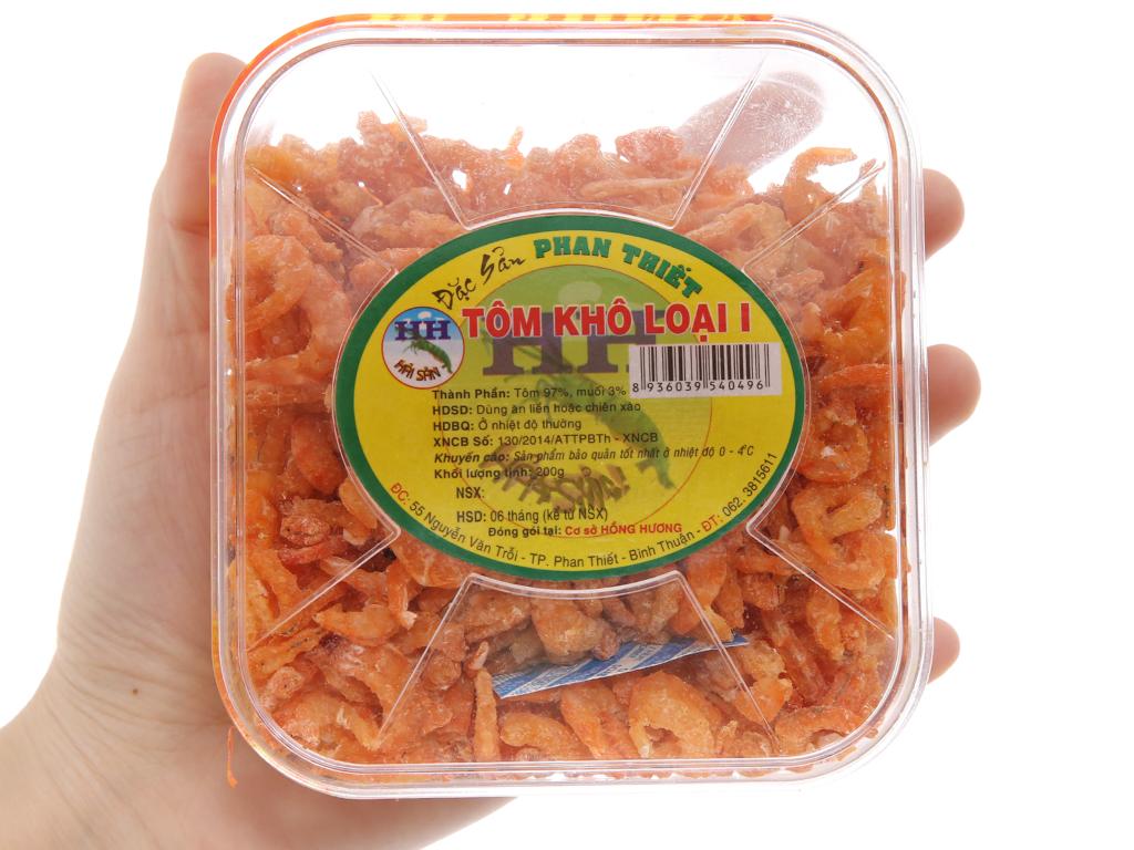 Tôm khô loại 1 Hồng Hương hộp 200g 4