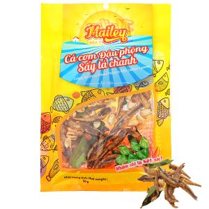 Cá cơm đậu phộng sấy lá chanh ăn liền Mailey gói 30g